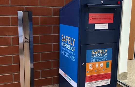 Installation of disposal box for unused & expired medications at PSC